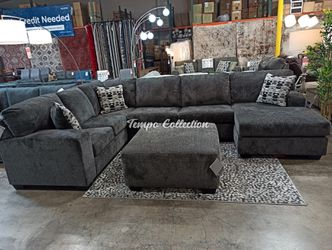 Sectional Sofa with Ottoman, Smoke, SKU# ASH8070308TC for Sale in Norwalk,  CA