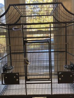Large Black Metal Birdcage for Sale in Wynnewood,  PA