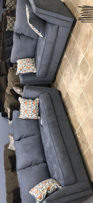Steel Sofa and Loveseat / Couches - - $39 down payment BRAND NEW by Ashley✔️ for Sale in Pasadena, TX