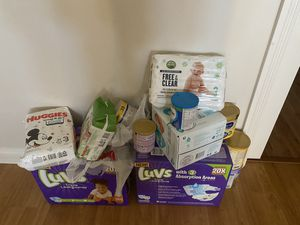 Huggie diapers, wipes, Luvs, Enfamil, Silmiac all 150 obo for Sale in Henderson, NV
