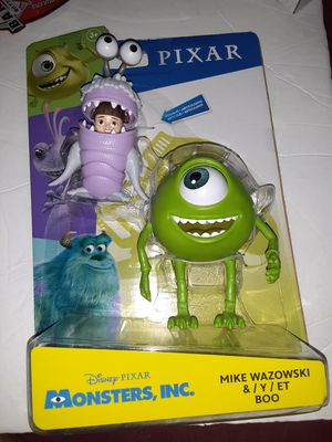 New 2019 Disney Pixar Monsters Inc Mike Wazowski & Boo (2 Pack) Action Figures for Sale in Doral, FL