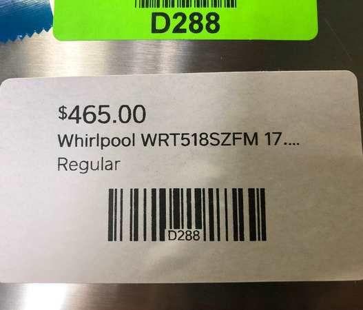 Whirlpool refrigerator WF