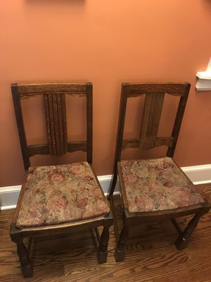 2 tiger eye oak antique chairs for Sale in Nashville, TN