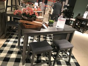 Ashley Furniture Counter Height Dining Set, Grey Finish for Sale in Garden Grove, CA