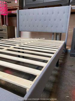 NEW, CLASSIC DESIGN FULL PLATFORM BED FRAME,TAN, SKU#WKQQBG02UB for Sale in Westminster,  CA