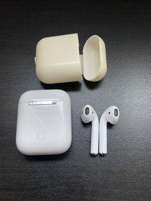Original Apple AirPods + silicone case for Sale in Miami, FL