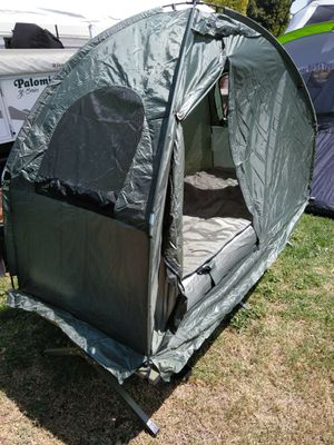 A cot what is shelter over the top for outdoors for Sale in Riverside, CA