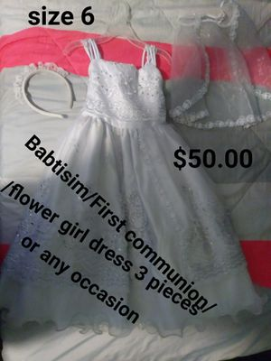 Babtisim/First communion/Flower girl dress/any occasion size 6 for Sale in Hesperia, CA