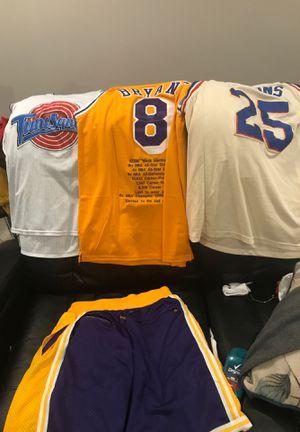 Sports JERSEYS bundle + Laker Shorts for Sale in Florissant, MO
