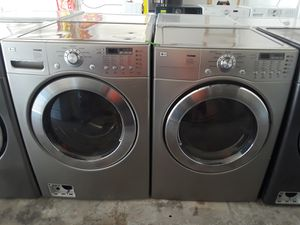 LG Silver Washer And Electric Dryer for Sale in Austin, TX
