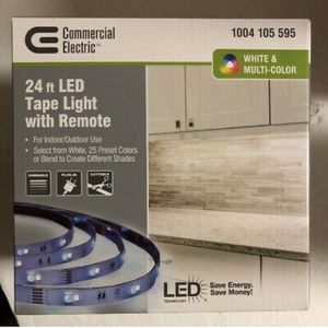 Commercial Electric LED Tape Light 24 ft 25 Preset Colors/Blends/Shades with remote NEW IN BOX for Sale in Charleston, SC