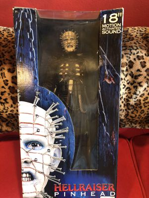 "18"" NECA Hellraiser movie Pinhead Motion Activated Doll Toy Horror Action Figure Sealed for Sale in Beverly Hills, CA"