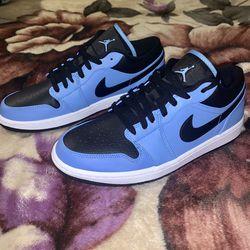DS Air Jordan 1 Low University Blue/Black-White 553558-403 Men's size 10 *Deadstock for Sale in Vacaville,  CA