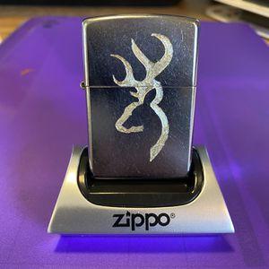 Zippo Chrome Browning Deer Head Logo for Sale in Cut Off, LA