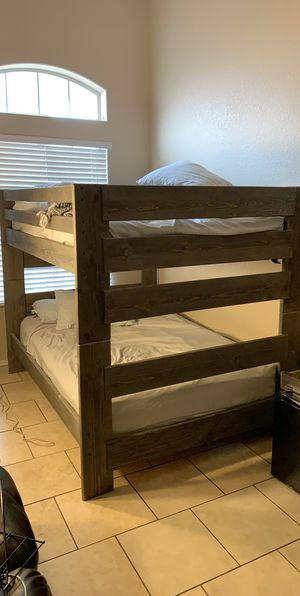 Barely used bunk bed solid wood for Sale in Peoria, AZ