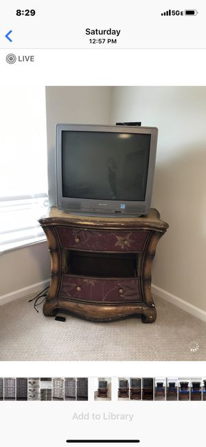 Antique Dresser with Tv for Sale in Delray Beach, FL