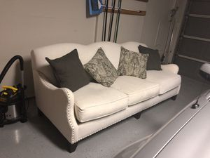 Down Stuffed Sofa with pillows - like new for Sale in Grapevine, TX