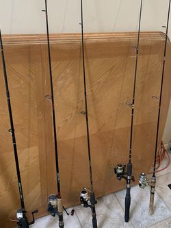 Five fresh water rods and reels for Sale in Pompano Beach,  FL