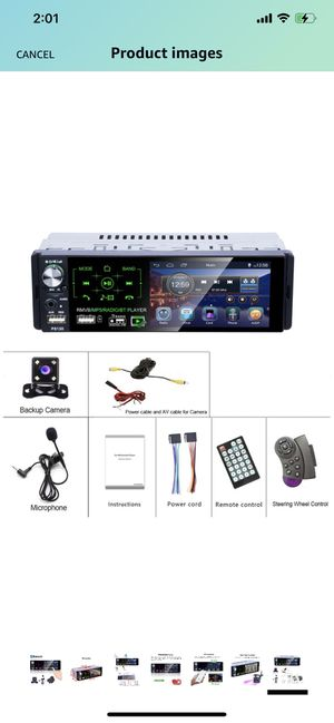 Camecho Single Din Bluetooth Car Radio 4'' Capacitive Touch Screen Car Stereo FM/AM/RDS Radio Receiver with Dual USB/AUX-in/SD Card Port + Backup Cam for Sale in Philadelphia, PA