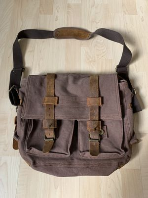 Brown Canvas Fabric Messenger Bag for Sale in Chino Hills, CA