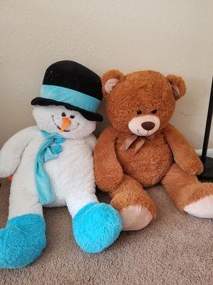 Teddy Bears (Snowman and Bear) for Sale in Nashville, TN