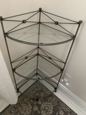 Glass corner accent piece for Sale in West Long Branch, NJ