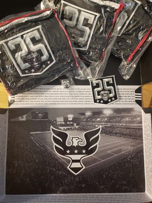 Dc united scarf button and official patch for Sale in Washington, DC