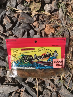 Bass Assassin Logger Toad 4 ct bait lure fishing for Sale in Greensboro, NC