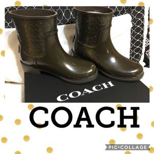 Authentic Coach Signature Rain Boots (New with Tags) for Sale in Surprise, AZ
