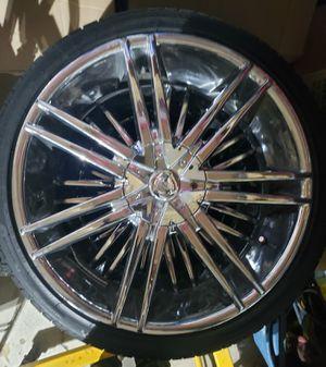"Borghini 20""rims and tires for Sale in Menifee, CA"