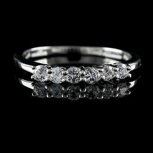 0.29 Ct Round D/VVS1 Diamond 14K White Gold Over Band Ring size 8 for Sale in Port St. Lucie, FL
