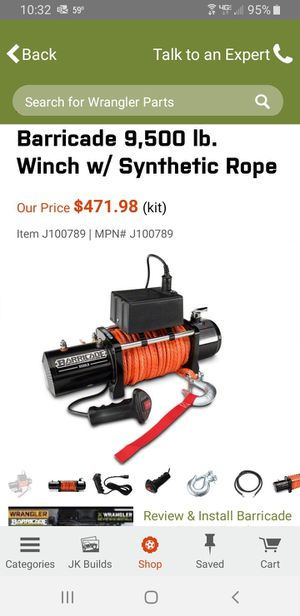 Barricade 9500 lb JEEP winch NEW for Sale in Lakewood, CO