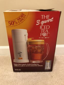 The 3 Quart Iced Tea Pot By Mr. Coffee for Sale in Manassas,  VA