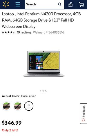 """Acer Swift 13"""" Laptop New in Box Full HD for Sale in Jackson, TN"""