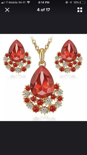 Red necklace set for Sale in Falls Church, VA