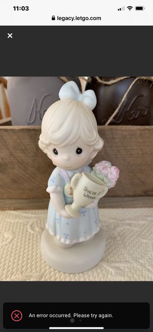 "Precious Moment Porcelain Limited Edition 1993 ""Your My Number One Friend"" Figurine for Sale in Danville, CA"