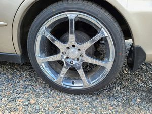 "18"" rims motegi with brand new tires 350 obo for Sale in North Chesterfield, VA"