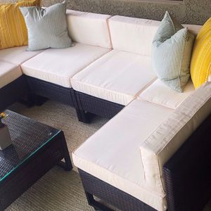 New!! Patio Set, Patio sectional Set, Sectional Set, Patio Conversation Set, Outdoor Furniture, 7 Pc Coffee Table Set for Sale in Phoenix, AZ