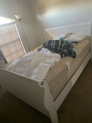 Queen size sleigh bed with mattress for Sale in Richmond, VA