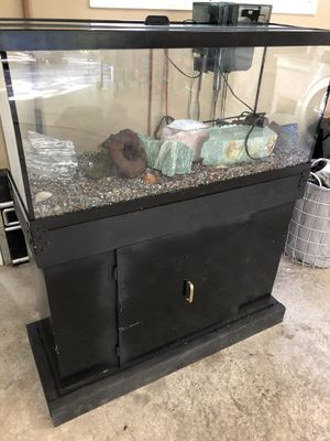 45 Gallon Aquarium and Stand with Filter for Sale in Oregon City, OR