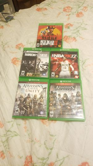 Xbox 1 games all for $40 for Sale in Fall River, MA