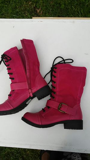 Kali Pink Rugged calf boots sz 6 for Sale in Lilburn, GA