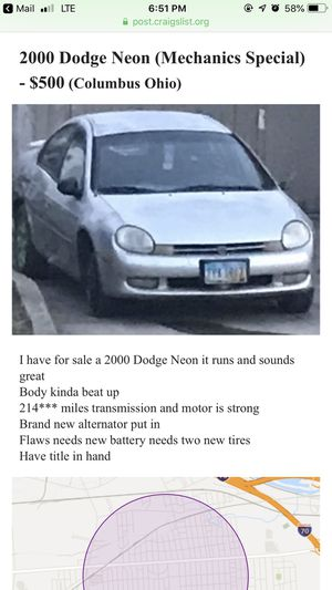 2000 dodge neon (Parting Out) for Sale in Columbus, OH