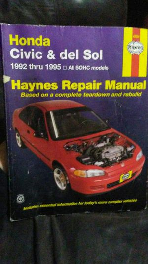 Honda repair manual for Sale in Jacksonville, FL