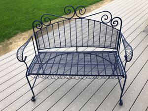 Blue Indoor / Outdoor Bench, Excellent Condition. for Sale in Scarborough, ME