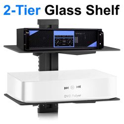 $15 (brand new) tempered 2-tiers glass shelf wall mounted for Sale in Whittier,  CA