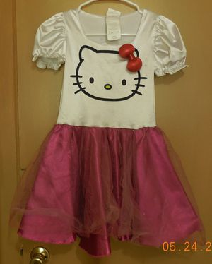Pretend play dress up dress Halloween costume hello kitty for Sale in North Fort Myers, FL