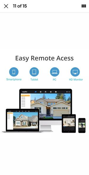 16 Security Camera System Sannce 1080P for Sale in Perris, CA