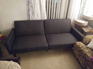 Couch/futon, back folds down to turn into a bed for Sale in Portland, OR