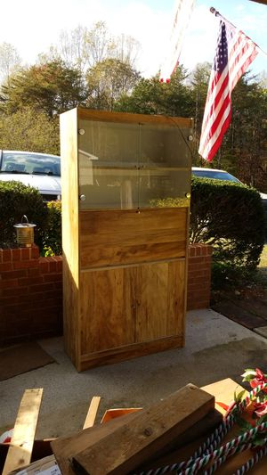 Blonde Fiberboard China Cabinet with Light for Sale in Lynchburg, VA